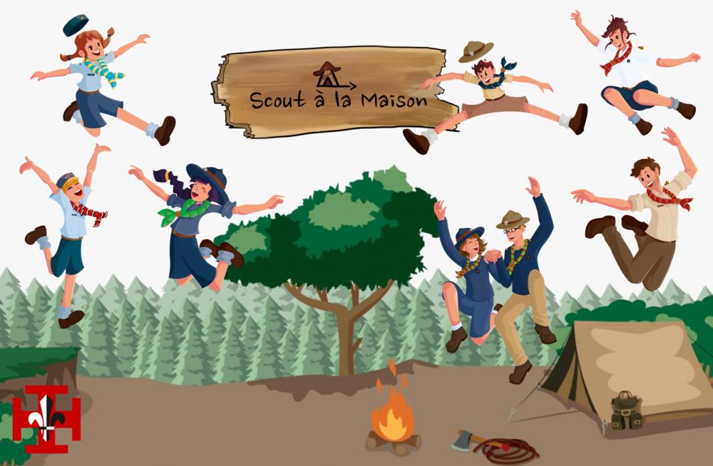 Scouts à la maison